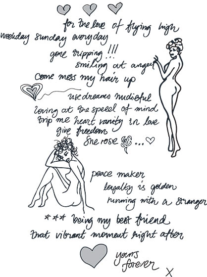 """Peace maker""<br /><br /><small><a href=""http://nymag.com/fashion/fashionshows/designers/bios/oddmolly/"">See more from Odd Molly »</a></small>"