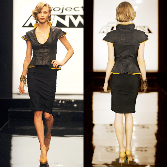 We like this top! But we forget who Chris is! Is he the cute one? Yes, yes we think that's him. Damn <em>Project Runway</em> and its 1,352 contestants each season.