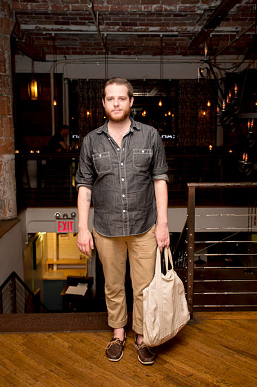 Patrick O'Neil, 25, an employee at Saks Fifth Avenue who lives in Williamsburg, Brooklyn.