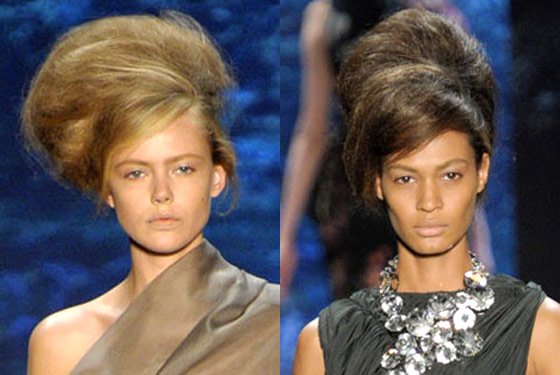 Poufy bouffants (pouffants?) at Vera Wang.