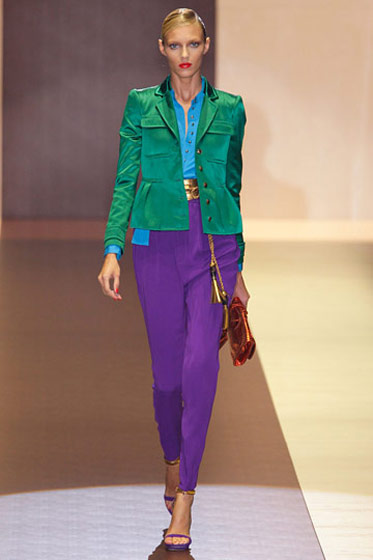 A slick take on the bright colors that were all over Milan.