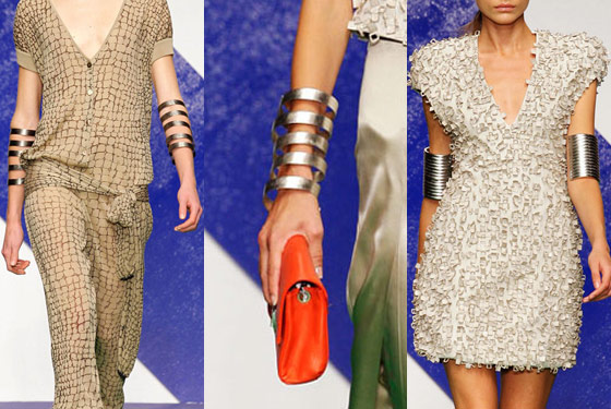 Serious arm cuffs at Krizia.