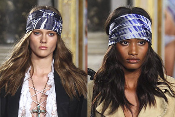 Axl Rose head scarves at Emilio Pucci.