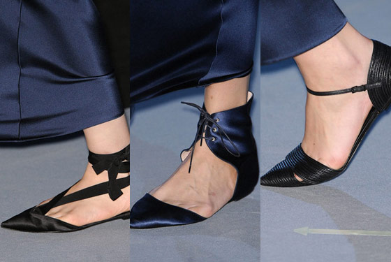 Evening flats at Giorgio Armani.