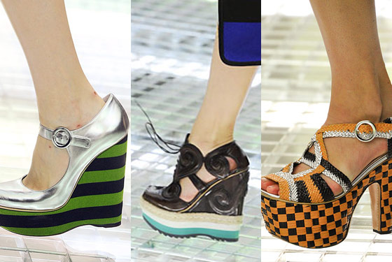 Pretty much all of the shoes at Prada.