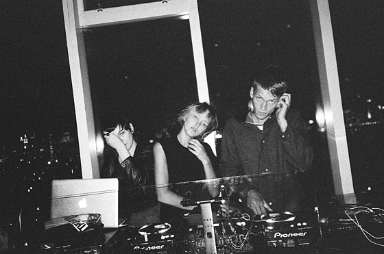 Rachel Chandler and Tom Guinness playing at the <em>Purple</em> party held at Les Bains.