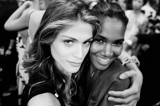 Arlenis Sosa and me backstage at the DVF show.