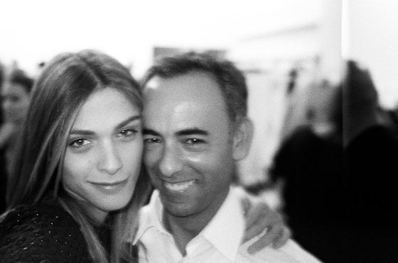 Me with Francisco Costa backstage at Calvin Klein.