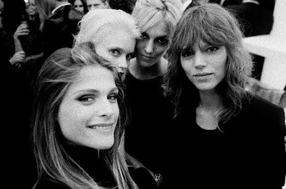 Freja Beha, Abbey Lee, Anja Rubik, and me at the Chanel Soho store reopening party.