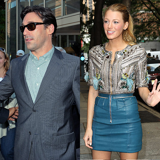 Jon Hamm, we know you were in New York. Are you avoiding us? And, in a less-stalkery way, we wish we'd seen Blake Lively, who must be swamped with <em>Gossip Girl</em> and press junkets for <em>The Town</em>, but who is always dressed in something reliably interesting — good or bad.