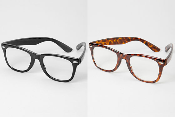 "Fred Flare Risky Business Glasses, $11 at <a href=""http://nymag.com/listings/stores/fred-flare/"">Fred Flare</a> or <a href=""http://www.fredflare.com/customer/product.php?productid=3925&cat=348&page=1"">online</a>."