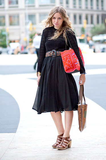 "Sonia Evers, 24, a <a href=""http://runwayhippie.com/""> fashion blogger</a> who lives on the Lower East Side."