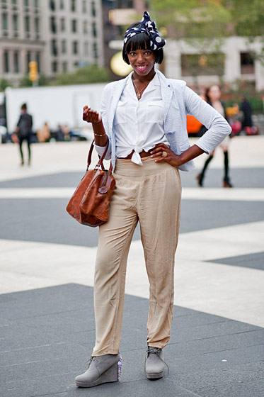 "Joy Adaeze, 27, a stylist and <a href=""http://joylovesfashion.com"">blogger</a> who lives on the Upper East Side."