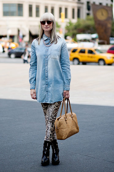 "Nina Stotler, 30, the youth market editor for <a href=""http://www.stylesight.com/"">Stylesight</a> and The Cut's <a href=""http://nymag.com/daily/fashion/2010/09/trend_forecaster_nina_stotler.html"">guest trend forecaster during Fashion Week</a>, who lives in Williamsburg, Brooklyn."