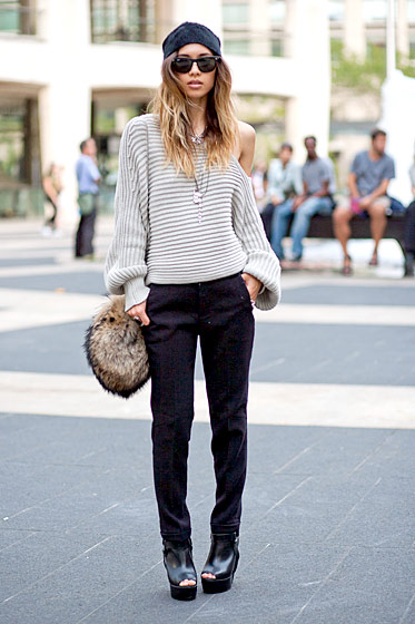 "Rumi Neely, a <a href=""http://www.fashiontoast.com/"">blogger</a> who lives in San Diego."
