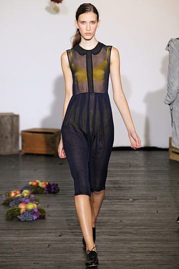 Who better to do the sheer look than Araks, who started out designing lingerie?