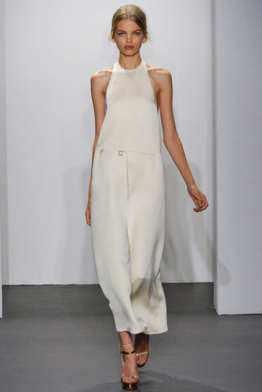 First came her Miu Miu fall 2010 campaign, then she modeled for Givenchy's fall 2010 couture collection. Now Daphne Groeneveld opened for Calvin Klein (seen here), as an exclusive. 