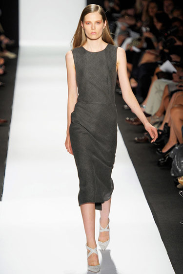 The rookie with the most cake this season was Caroline Brasch Nielsen, who scored major opening slots, including Narciso Rodriguez (seen here). 