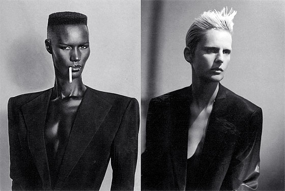 Do you prefer Grace Jones by Jean-Paul Goude (left) or Stella Tennant by Paolo Roversi? Take your pick!