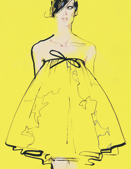A look from Giambattista Valli by David Downton.