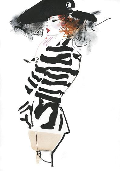A look from Christian Dior by David Downton.