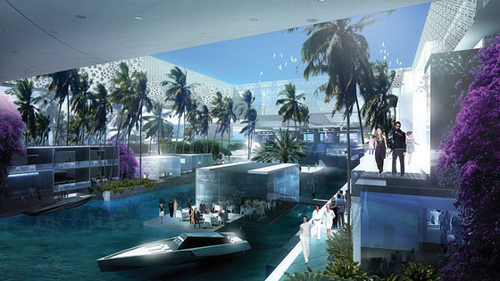 Residents will wear an obscene number of all-white outfits, and travel by James Bond's future speedboat.