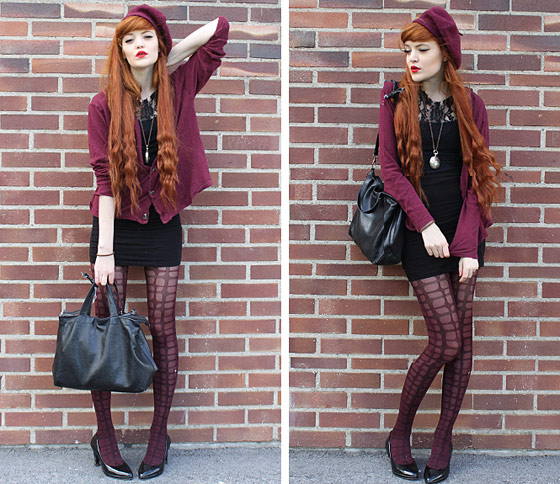 "Cosette M., shot in Stockholm, for <a href=""http://lookbook.nu/look/1128021-Bordeaux"">Lookbook</a>."