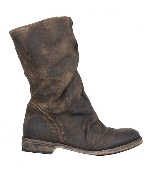 The deliciously squashy-looking Collapse shearling boot, $250.