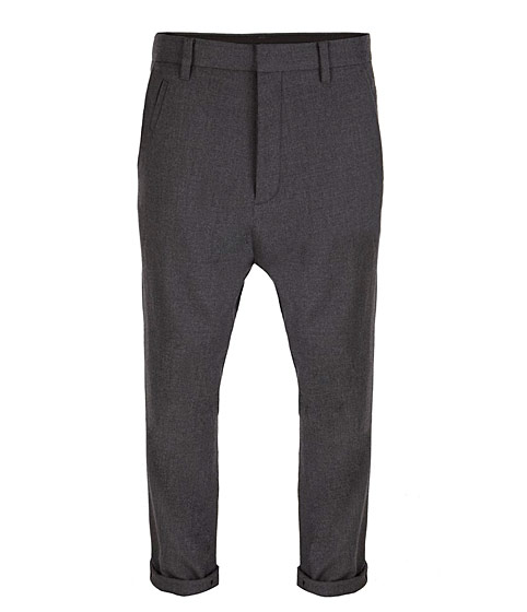 The Platoon pant's slightly dropped crotch is a little trendy for a guy, without being overt. $160,