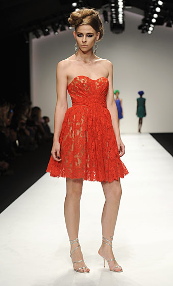 A full-color spectrum, particularly in the spring/summer collections, are one Issa hallmark. This lace dress is from spring/summer 2011.