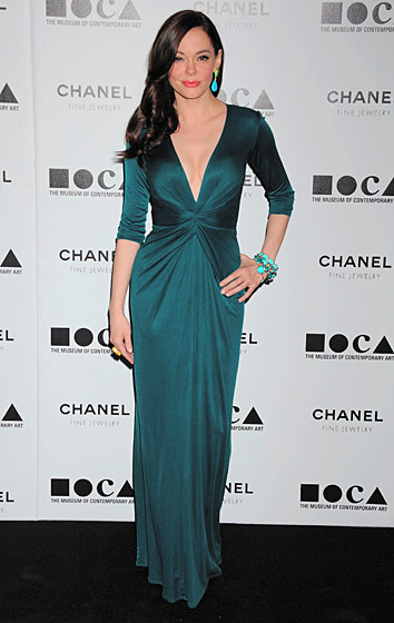 Emerald suits Rose McGowan.