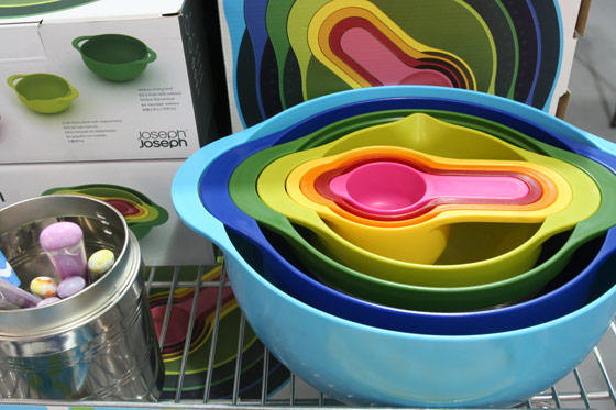 Eight-piece nesting set, $54.