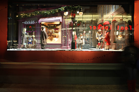 Macy's drew inspiration from three different sources this year: the classics <em>Miracle on 34th Street</em> and <em>Yes, Virginia</em>, along with seasonal Broadway newcomer <em>Elf</em>.