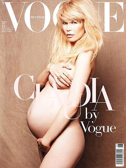 Remarkably like Demi Moore's <em>Vanity Fair</em> cover. But hey, she's blonde.