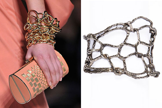 "Four-stitch knit cuff, $290 at <a href=""http://nymag.com/listings/stores/wendy-nichol/"">Wendy Nichol</a> and <a href=""http://shop.wendynicholnyc.com/collections/frontpage/products/4-stitch-cuff"">online</a>."