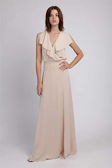 Wrap-over maxi dress, $525.