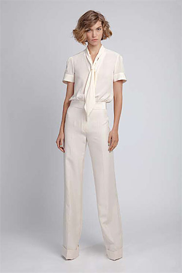 Sailor blouse, $170; Fit and Flare pant, $230.