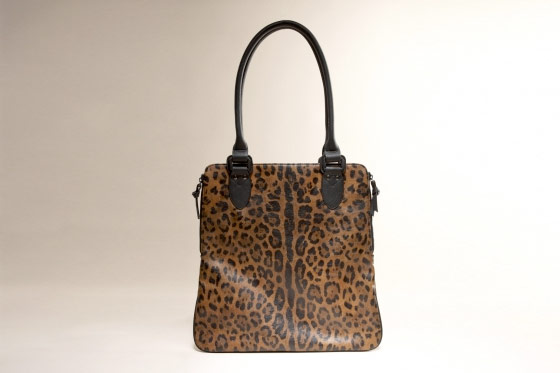At the Limited, a leopard tote big enough for magazines, laptops, and all other miscellaneous haul, $44.90.