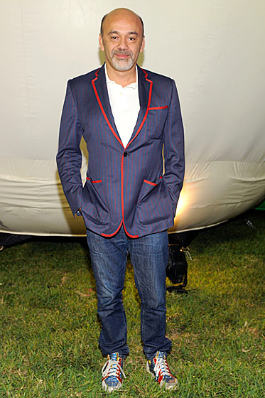 Christian Louboutin at the <i>Paper</i> Magazine–AOL–Friends With You party.