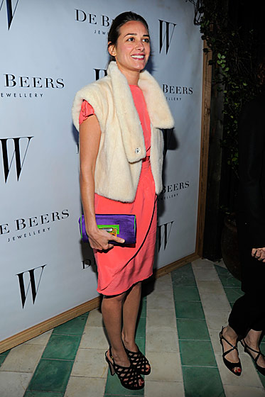 Ambra Medda at the <i>W</i> Magazine and De Beers party.