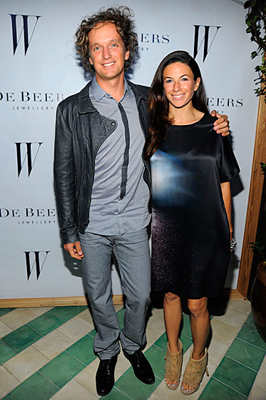 Yves Behar and Sabrina Buell at the <i>W</i> Magazine and De Beers party.