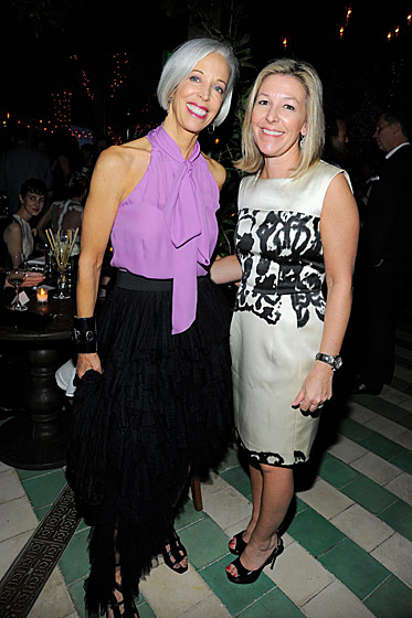 Bergdorf Goodman's Linda Fargo and Nina Lawrence, <i>W</i>'s publisher.
