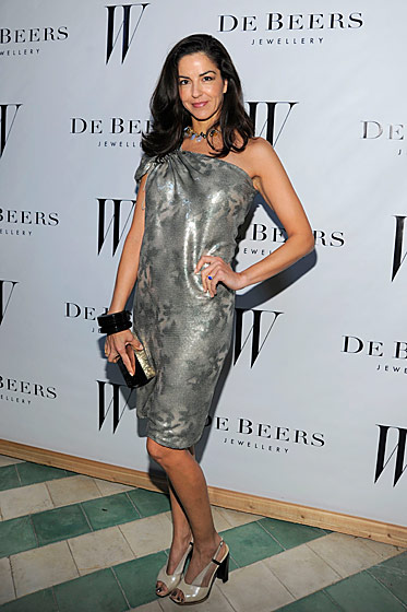 Dayssi Olarte de Kanavos at the <i>W</i> Magazine and De Beers party.