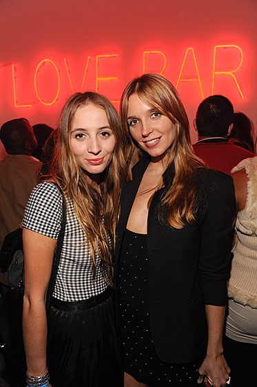 Carlie Viera-Newton and Lisa Lupinski at the Bally Love party.