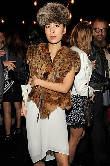 Mai Ueda at André Balazs's party for Bruce Weber.