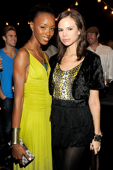 Pastasha McLean and Chelsea Olson at the André Balazs–Bruce Weber party.