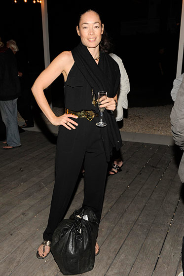 Cecilia Dean at the André Balazs–Bruce Weber party.