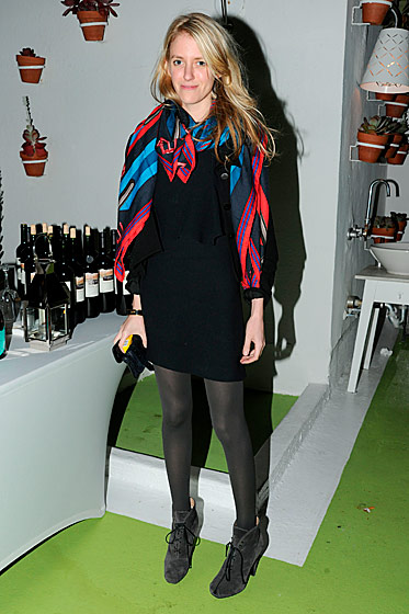 Art dealer Amy Greenspon at the LVMH–Fendi Art Basel dinner.