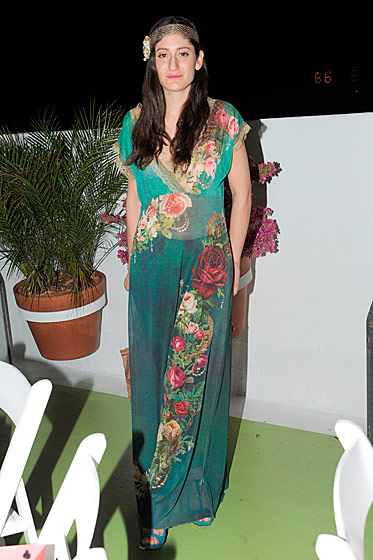 Arden Wohl at the LVMH–Fendi Art Basel dinner.