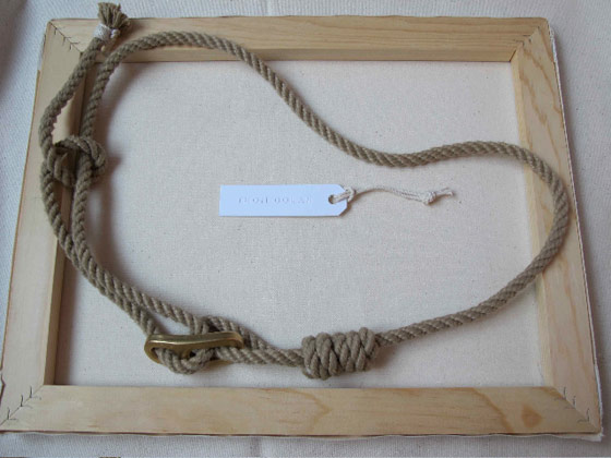 Rigger's rope belt with solid brass hardware, $85.